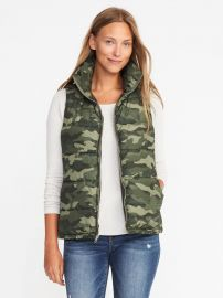 Camo Puffer Vest by Old Navy at Old Navy
