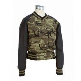 Camo bomber jacket at Burlington Coat Factory