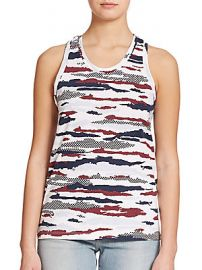 Camo print tank by Etre Cecil at Saks Off 5th