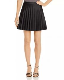 Cannes Pleated Faux-Leather Skirt at Bloomingdales