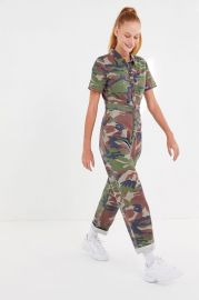 Canvas Camo Flight Jumpsuit by Urban Outfitters at Urban Outfitters