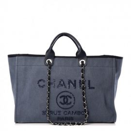 Canvas Sequin Large Deauville Tote at Fashionphile