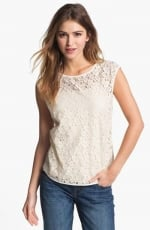 Cap Sleeve Lace Shell at Nordstrom