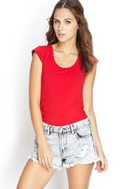 Cap Sleeve Tee at Forever 21