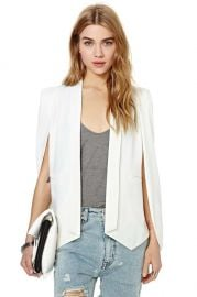 Cape Blazer in Ivory at Nasty Gal