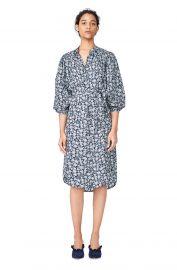 Capucine Floral Hammered Silk Shirtdress at Rebecca Taylor