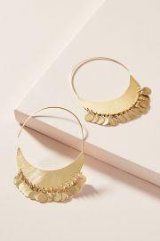 Cara Coin Hoop Earrings at Anthropologie