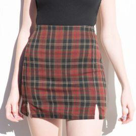 Cara Plaid Skirt at Brandy Melville