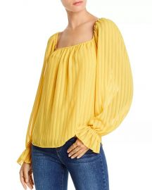 Cara Striped Square-Neck Top by Lini at Bloomingdales