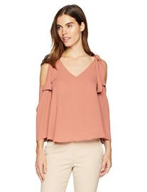 Caralyne Cold Shoulder Top by BCBGMAXAZRIA at Amazon