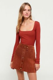 Cardiff Suede Mini Skirt at Urban Outfitters