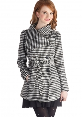 Carefully Chosen Coat in Houndstooth at ModCloth
