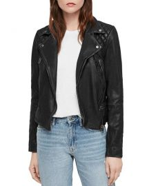Cargo Quilted Leather Biker Jacket at Bloomingdales