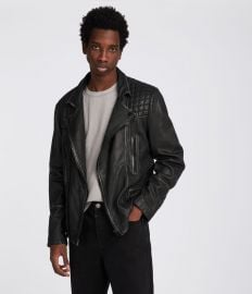 Cargo Leather Biker Jacket  All Saints at All Saints
