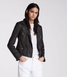 Cargo Leather biker Jacket at All Saints