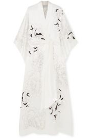 Carine Gilson - Floral-print silk-satin robe at Net A Porter