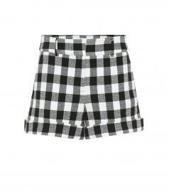 Carito checked cotton shorts at Mytheresa