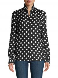 Carla Polka Dot Silk Blouse at Saks Fifth Avenue