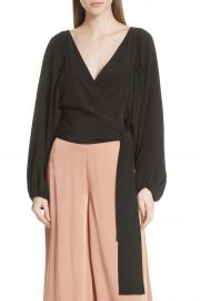 Carla Silk Wrap Crop Top at Nordstrom Rack