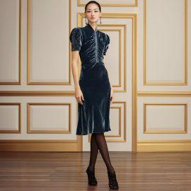 Carla Velvet Dress at Ralph Lauren