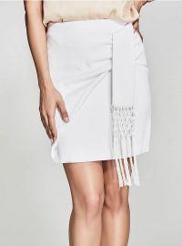 Carlita Fringe Skirt at Guess