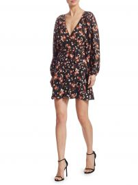 Carlo Floral Wrap Dress at Saks Fifth Avenue