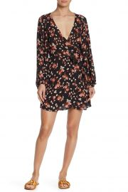 Carlo Floral Print Silk Dress at Nordstrom Rack