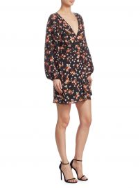 Carlo Silk Floral Wrap Dress at Saks Off 5th