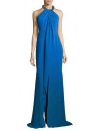 Carmen Marc Valvo - Toga Embellished Neck Gown at Saks Fifth Avenue