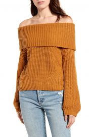 Carmichael Off the Shoulder Sweater by Lulus at Nordstrom