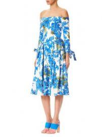 Carolina Herrera - Off-The-Shoulder Floral Dress at Saks Fifth Avenue