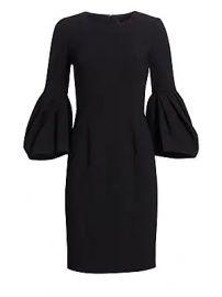 Carolina Herrera - Pleated Bell-Sleeve Dress at Saks Fifth Avenue