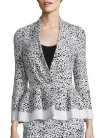 Carolina Herrera - Splatter-Print Tweed Jacket at Saks Off 5th