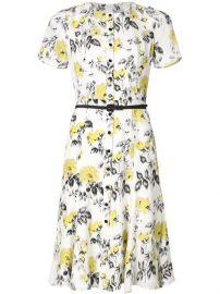 Carolina Herrera Floral Print Belt Dress at Farfetch