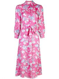Carolina Herrera Floral Print Shirt Dress - Farfetch at Farfetch