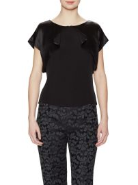 Carolina Herrera Flutter Overlay Blouse at Gilt