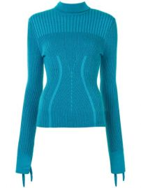Carolina Herrera Knotted Sleeves Ribbed Jumper - Farfetch at Farfetch