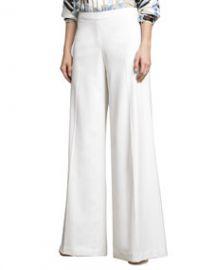 Carolina Herrera Lightweight Wide-Leg Pants at Neiman Marcus