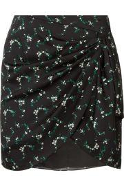 Caroline Constas - Koren gathered floral-print silk-blend mini skirt at Net A Porter