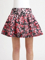 Carrie's RED Valetino floral skirt at Saks Fifth Avenue