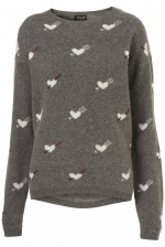 Carrie's Topshop hearts sweater at Topshop at Topshop