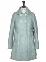 Carrie's coat in mint green at Louise