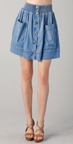 Carrie's denim skirt at Shopbop