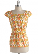 Carries fruit print top at Modcloth at Modcloth