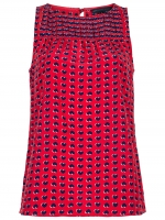Marisol's heart print top by Marc Jacobs at Farfetch