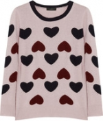 Carrie's heart sweater at Net a Porter at Net A Porter