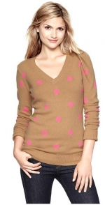 Carrie's polka dot sweater at Gap