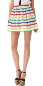 Carrie's rainbow striped skirt at Shopbop