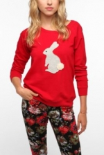 Carrie's red bunny sweater at Urban Outfitters at Urban Outfitters