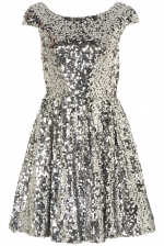Carrie's silver dress from Topshop at Topshop